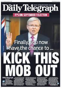 The Daily Telegraph's calm and measured start to its election campaign coverage.